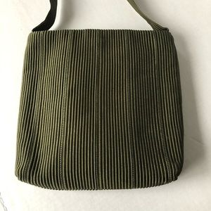Sharif Americana Crossbody Bag Ribbed Khaki Green